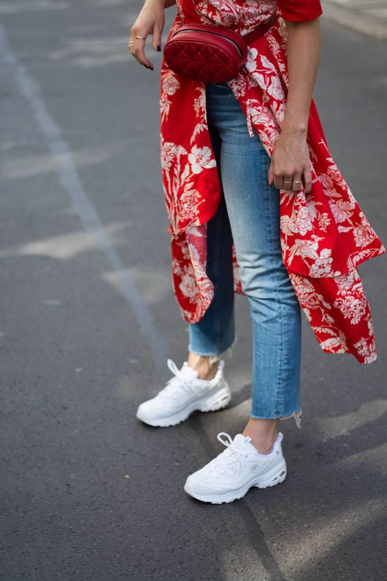 outfits con tenis fila